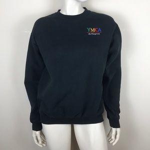 Vintage 90s y2k 00s YMCA black batwing sweatshirt